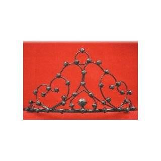 Princess Bridal Wedding Tiara Crown with Dark Purple Crystal Flower