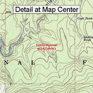 USGS Topographic Quadrangle Map   Turkey Mountain, Arizona (Folded