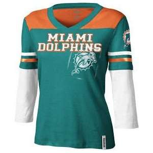 Miami Dolphins Youth Girls Long Sleeve Statement T Shirt