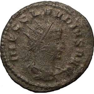 CLAUDIUS II 268AD Authentic Ancient Roman Coin NEPTUNE w dolphin and