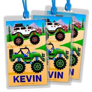Personalized Backpack & Lunch Bag ID Tags Boys Truck