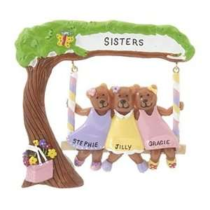 Personalized Sisters or Best Friends Christmas Ornament