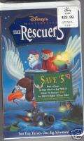 The Rescuers ,VHS Recalled Version Disney SEALED~BONUS (786936079722