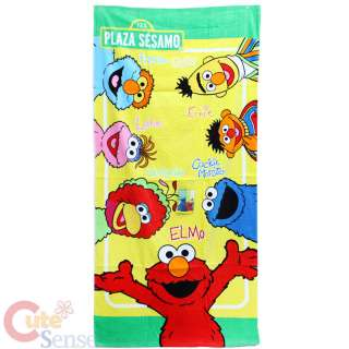 Plaza Sesamo Elmo Friends Bath / Beach Towel  Cotton