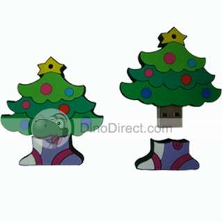 Wholesale 4GB Christmas Tree Cartoon USB 2.0 Flash Memory Drive Green