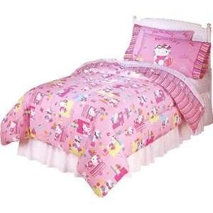 Hello Kitty Shopper   5pc Girls Bedding Set   Full Size Pink Bed