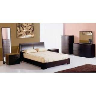 Hokku Designs Maya Platform Bedroom Set in Espresso   Nbzb Gvm
