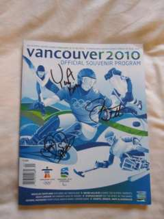 Kim + Mao Asada + Joannie Rochette signed autographed 2010 Vancouver