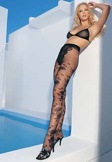 Leg Avenue Jacquard French Cut Tights (1300). In Stock Online at UK