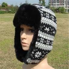SNOW Polyester Snowflakes Warm Ear Flap Hat