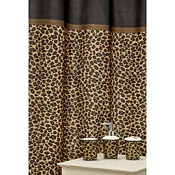 Leopard Brown 16 piece Ceramic Bath Accessory Set  Overstock