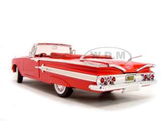 1960 Chevrolet Impala Convertible Diecast Model Red 1/18 Die Cast Car