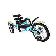 Mobo Mobito   The Ultimate Three Wheeled Cruiser 16 inch   Blue   ASA