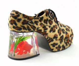 PLEASER MENS Old School Costume 70s Cheetah Pimp Shoes