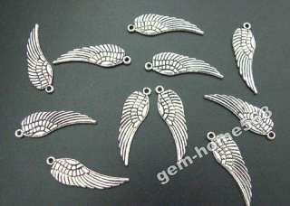 200 Tibetan Silver Angel Wing Charms Drops