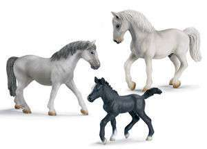 Schleich Lipizzaner Horse Set 3 pc Scenery Pack Farm Animal 41221 NEW