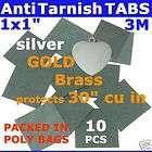 ANTI TARNISH PAPER STRIP TAB 10p 1 JEWELRY SILVER GOLD