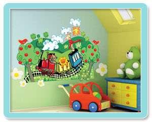 Kids Wall Murals Train Baby Boy Nursery Decal Sticker
