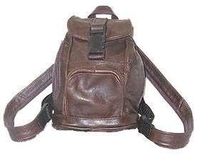Genuine Leather MINI BACKPACK purse bag tote sling black brown tan etc
