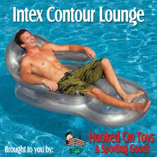Intex Contour Lounge Inflatable Swimming Pool & River Float Raft with
