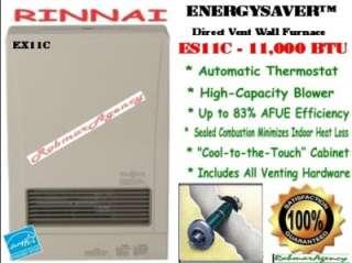 Rinnai   11,000 BTU Direct Vent Wall Room Heater  EX11C