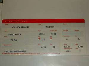 KEVIN SORBO ORIGINAL BOARDING PASS FROM LAX AIRPORT