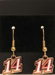 TONY STEWART #14 RACING EARRINGS, CHARMS, PINS, CHARM BRACELETS