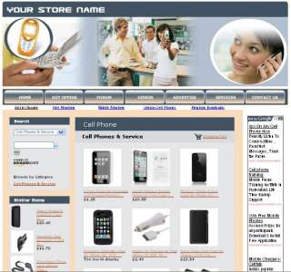 MONEY MAKING CELL PHONE SERVICES STORE WEBSITE BUSINESS