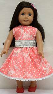 Doll Clothes fit American Girl & 18 Doll   printed denim dress