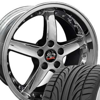 20 8.5/10 Chrome Cobra 05 Wheels Falken Tires Rims Fit Mustang® 05