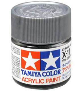 TAMIYA COLOR X 11 Chrome Silver MODEL KIT ACRYLIC PAINT
