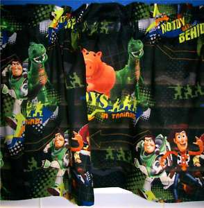 Disney BLACK BUZZ LIGHTYEAR WOODY TOY STORY 3 VALANCE