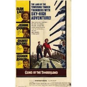 Frankie Avalon Guns Of The Timberland 1960 Original Folded Movie