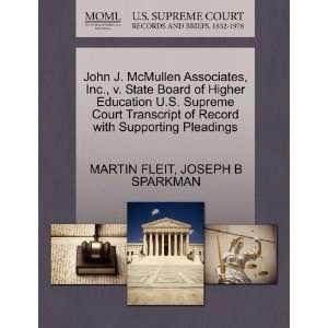 John J. McMullen Associates, Inc., v. State Board of Higher Education