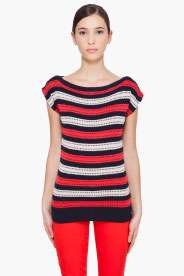 MARC BY MARC JACOBS Kay Stripe Sweater T Shirt