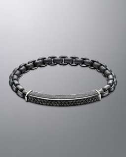 N1FP6 David Yurman Streamline Bracelet, Black Diamonds