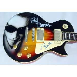 The Kinks Ray Davies Autographed Signed Airbrush Guitar