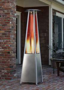 Fire Sense Stainless Steel Pyramid Flame Heater New