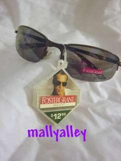 Foster Grant Mens Half Rimless Sunglasses Gunmetal NEW