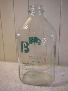 Vintage Half Gallon Glass Milk Bottle Jug Bailey Farm Dairy St