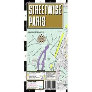 Streetwise Paris Map   Laminated City Street Map of Paris