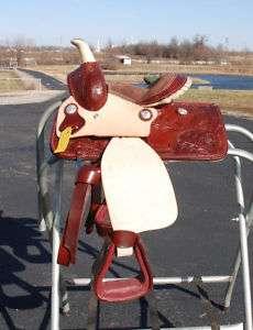 Super fancy Miniature mini horse saddle 9 seat TOOLED