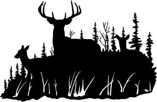 Deer Hunting Decal ST #7 F Window Decals,Stickers 6