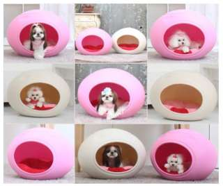 INDOOR PET DOG CAT HOUSE EGG SHAPE DECORATION ~PINK