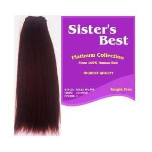 Sisters Best Human Weaving Hair Silky Straight Weave 18 inch   Color