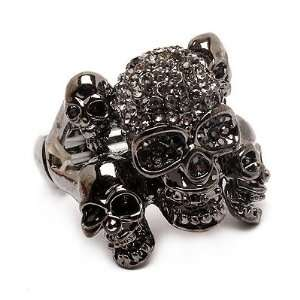 Crystals Stretch Adjustable Fashion Ring Halloween Jewelry Jewelry
