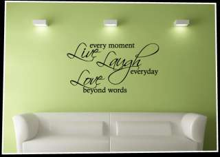 Live Laugh Love   Vinyl Word Art Wall Decal