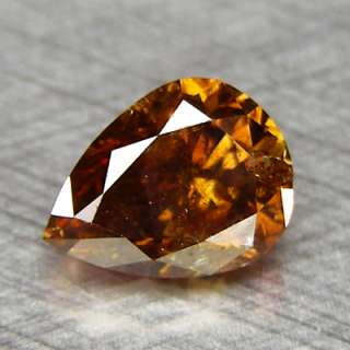 70cts Pear Fancy Red Cognac Natural Loose Diamond