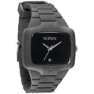 New Nixon Rubber Player Gray Black Mens Watch A139 195