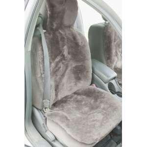 Universal Sheepskin Car Seat Cover, MUSHROOM, Size 1 SIZE